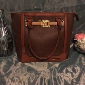Adrienne Vittadini brown leather type purse